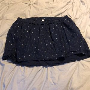 Navy with Pattern Skirt